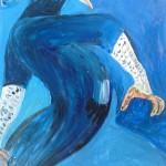 L'homme pigeon (gouras) 48 X 30