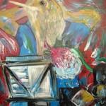 L'homme rossignol (Le rossignol et la rose blanche) 36 X 30