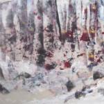 la forêt 18 X 24 Acrylique