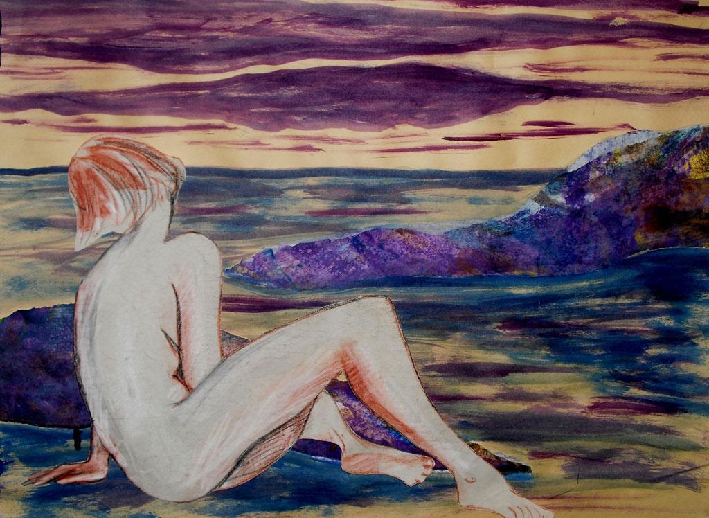 Le rêve 12 X 18 Acrylique et collage