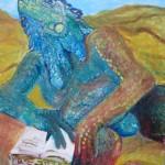 L'homme iguane 40 X 30